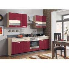 Virtuvės komplektas Moderna 240 MDF bordo